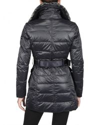 Peuterey - Gray Rabbit Fur & Nylon Taffetà Down Jacket - Lyst
