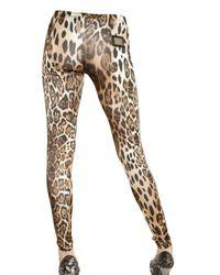 Philipp Plein - Multicolor Leopard Print Viscose Jersey Leggings - Lyst