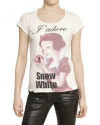 Philipp Plein - Swarovski Snow White Print Jersey Tshirt - Lyst