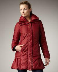 Preta Lobue - Red Ruffle-Bottom Coat - Lyst