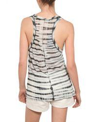 Proenza Schouler - Black Tie Dye Cotton Jersey Tank Top - Lyst