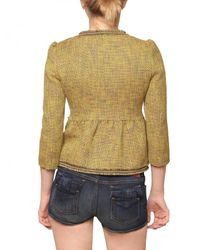 RED Valentino - Natural Tweed Gold Chain Details Jacket - Lyst