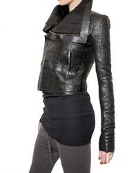 Rick Owens - Black Crocodile Leather Jacket - Lyst