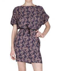 See By Chloé - Blue Printed Viscose Cady Dress - Lyst