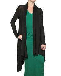 Silent - Damir Doma - Black Linen Wrap Cardigan Sweatshirt - Lyst