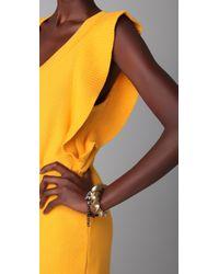 Sonia Rykiel - Metallic Ruffle Sleeve Sweater Dress - Lyst