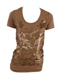 Stella McCartney | Metallic Sequin Front Tee Shirt | Lyst