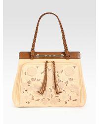 Valentino - Natural Demetra Top Handle Bag - Lyst