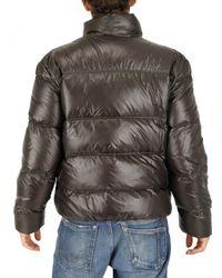 Add - Brown Ultralight Shiny Nylon Down Jacket for Men - Lyst