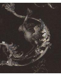 AllSaints - Black Ornate Branded Tee - Lyst