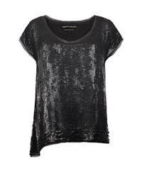 AllSaints - Black Gression Top - Lyst
