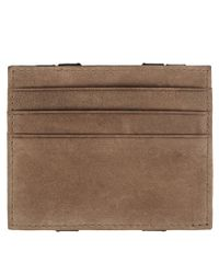 AllSaints - Brown Reverse Wallet for Men - Lyst