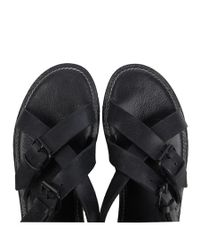 AllSaints | Black Crush Sandal for Men | Lyst