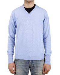 Ballantyne - Blue V-neck Cashmere Knit Sweater for Men - Lyst
