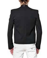 Balmain | Black Python Collar Sport Jacket for Men | Lyst