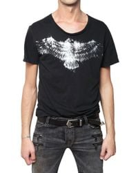 Balmain | Black T-shirt with Silver Print for Men | Lyst