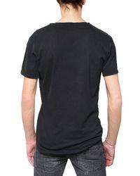 Balmain | Black T-shirt with Silver Print for Men | Lyst