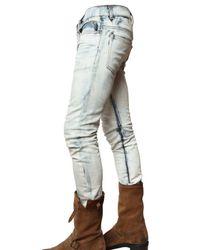 Balmain | Blue 17cm Tie-dye Bleached Denim Jeans for Men | Lyst
