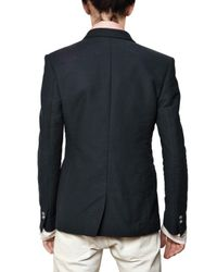 Balmain | Blue Cotton Canvas Double Breasted Jacket for Men | Lyst