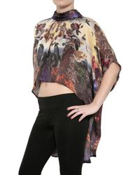 Beyond The Valley | Multicolor Printed Silk Chiffon Top | Lyst