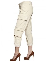 Boy by Band of Outsiders - White Corduroy Cargo Trousers - Lyst