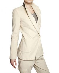Boy by Band of Outsiders | White Double Breasted Corduroy Jacket | Lyst
