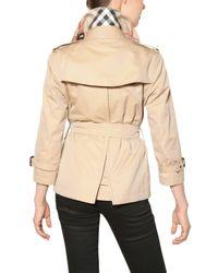 Burberry Brit | Natural Bromshire Hm Cotton Gabardine Jacket | Lyst