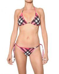 Burberry Brit - Pink 2 Pieces Lycra Bathing Suit - Lyst