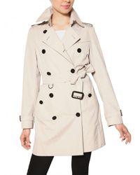 Burberry | White Buckingham Cotton Gabardine Trench Coat | Lyst