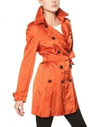 Burberry | Orange Wilmont Washed Viscose Satin Trench Coat | Lyst