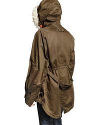 Burberry Prorsum - Green Raffiatrimmed Parka Coat for Men - Lyst