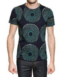 Burberry Prorsum   Green Optical Print Jersey T-shirt for Men   Lyst