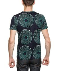 Burberry Prorsum | Green Optical Print Jersey T-shirt for Men | Lyst