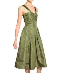Burberry Prorsum | Green Silk Taffeta Dress | Lyst