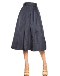 Burberry Prorsum | Blue Silk Taffeta Flared Skirt | Lyst