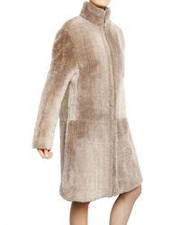 Calvin Klein   Natural Needle Punched Lamb Shearling Fur Coat   Lyst