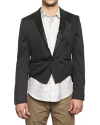 Tonello | Black Light Wool Jersey Short Tail Jacket for Men | Lyst