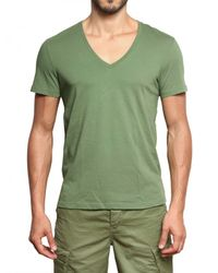 Closed | Green V-neck Jersey T-shirt for Men | Lyst