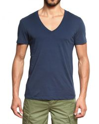 Closed | Blue V-Neck Jersey T-shirt for Men | Lyst
