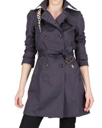 Daks | Blue Stretch Cotton Gabardine Trench Coat | Lyst