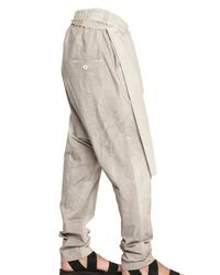 Damir Doma | Natural Cotton Poplin Wrap Trousers for Men | Lyst