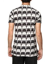Dead Meat | Black Skulls Print Piquet Cotton Jersey Polo for Men | Lyst