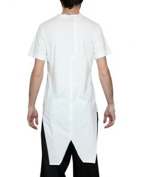 Dead Meat - White Star Raw Cut Jersey Tail T-shirt for Men - Lyst