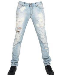 Dolce & Gabbana - Blue 19cm Audacious Bleached Denim Jeans for Men - Lyst