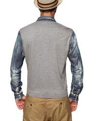 Dolce & Gabbana - Multicolor Denim Cotton Jersey & Silk Shirt for Men - Lyst
