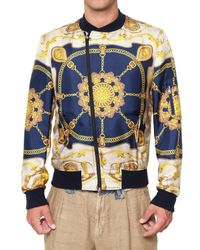 Dolce & Gabbana | Multicolor Silk Marine Sport Jacket for Men | Lyst
