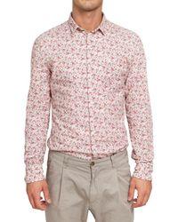 Dolce & Gabbana - Red Flower Printed Muslin Cotton Shirt for Men - Lyst