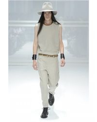 Dior Homme | Natural Nappa Collar Linen Toile Shirt for Men | Lyst