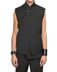 Dior Homme | Black Double Wool Toile Buckle Vest for Men | Lyst