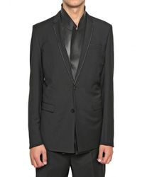 Dior Homme | Black Selvedged Wool Toile Jacket for Men | Lyst